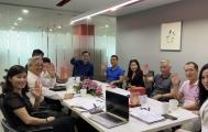 Chủ tịch Nguyễn Ngọc Quang thăm và làm việc với công ty Aya New World