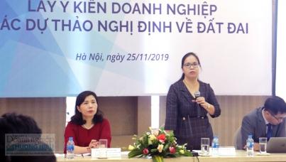 Hội thảo lấy ý kiến doanh nghiệp các dự thảo nghị định về đất đai