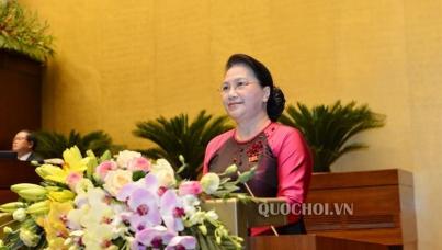 Chủ tịch Quốc hội Nguyễn Thị Kim Ngân chúc mừng Đoàn thể thao Việt Nam tại SEA Games 30
